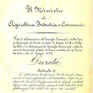 decreto istitutivo